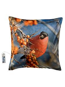 helline home - Housse de coussin lumineuse, motif oiseau