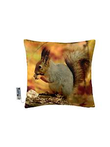 helline home - Housse de coussin lumineuse, motif écureuil