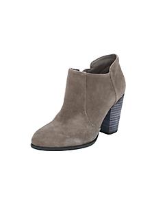 helline - Low boots en cuir velours et talons carrés