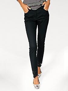 Linea Tesini - Pantalon slim original à bas brodés pour femme
