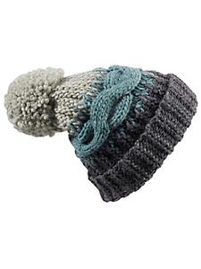 Loevenich - Bonnet femme en tricot torsadé et gros pompon