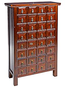 helline home - Commode en bois verni avec petits tiroirs
