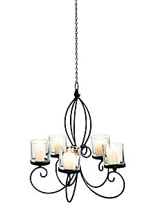 helline home - Lustre chandelier original en métal verni