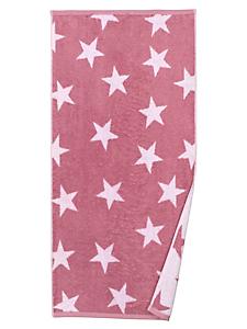 helline home - Serviette éponge en coton à motif étoiles