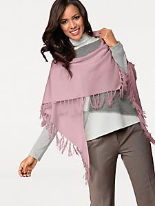 Patrizia Dini - Echarpe en cachemire style cape à franges