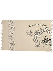 helline home - Tapis tissé main à motif floral, pur coton