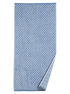 helline home - Serviette éponge en coton à motifs graphiques