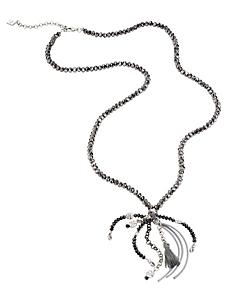 helline - Sautoir en perles tendance, aspect noué