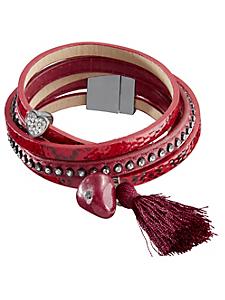 helline - Bracelet multirang en python vernis et pompon
