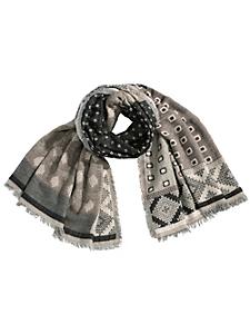 Passigatti - Echarpe femme à imprimé jacquard style patchwork
