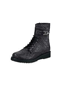 helline - Boots style rangers en cuir matelassé