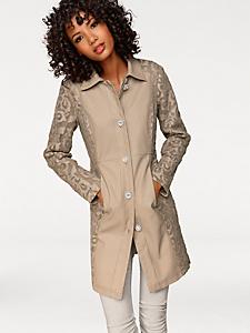 Linea Tesini - Manteau long en dentelle, boutons originaux