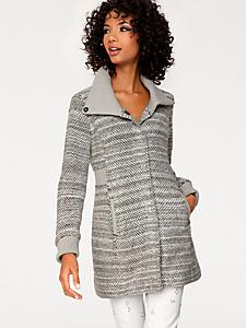 Linea Tesini - Manteau en laine confortable à fines rayures