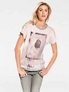 B.C. Best Connections - T-shirt fluide à manches courtes, effet 2en1
