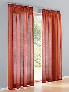 helline home - Voile semi-transparent en textile aspect lin