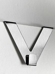Schmidt Gard - Crochet de porte en V en métal à suspendre