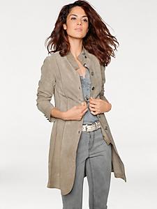 Linea Tesini - Manteau en cuir, chevreau velours