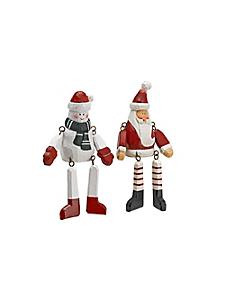 helline home - Figurines décoratives en bois, thème Noël