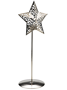 helline home - Photophore en métal forme cône ajouré moderne