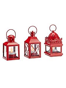 helline home - Lot de 3 lanternes décoratives en LED