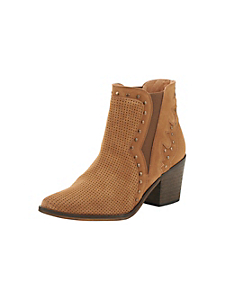 helline - Bottines finement perforées style cowboy