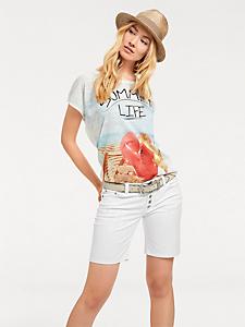 helline - T-shirt léger femme à imprimé estival et message