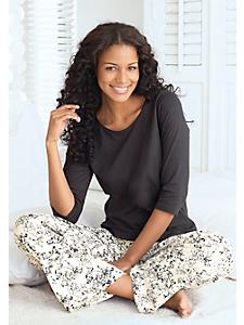 S.OLIVER RED LABEL - Pyjama femme, pantalon à imprimé fleuri