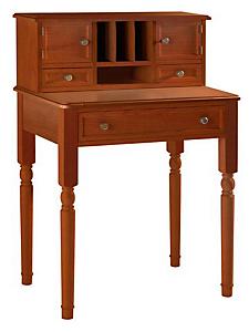 helline home - Bureau secrétaire élégant en bois, plateau extractible