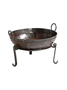 helline home - Jardinière originale en fer forgé, forme de cuve