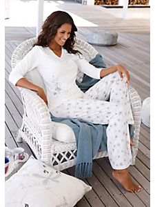 S.OLIVER RED LABEL - Pyjama femme à manches 3/4 et motifs discrets