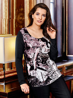 Guido Maria Kretschmer - T-shirt à manches longues pour femme, imprimé tendance