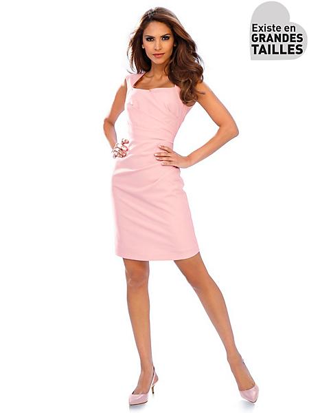 Ashley Brooke - Robe fourreau élégante sans manches, encolure carrée