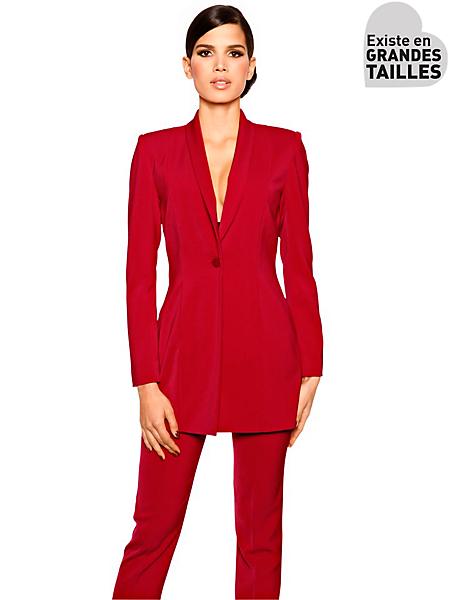 Ashley Brooke - Veste blazer long femme coupe cintrée style élégant