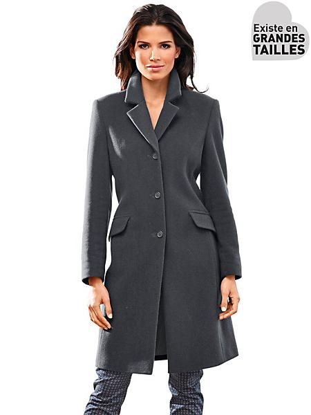 B.C. Best Connections - Manteau en laine unie, coupe longue
