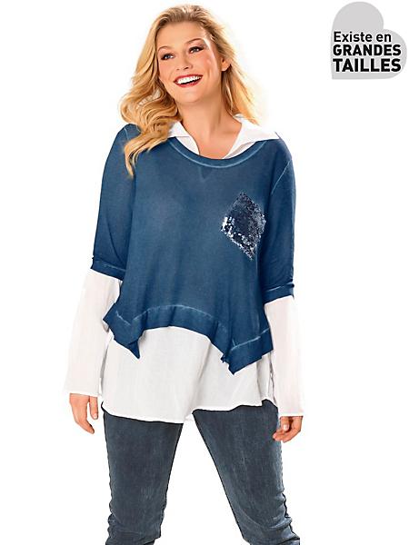 B.C. Best Connections - T-shirt femme 2 pièces, couleur jaune pastel