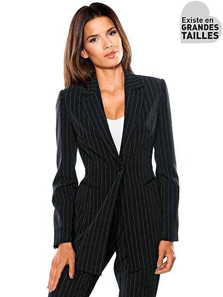 Patrizia Dini - Veste de tailleur, rayures classiques, coupe ajustée