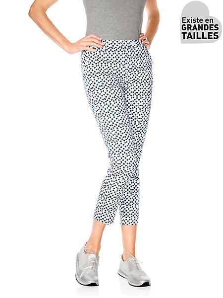Ashley Brooke - Pantalon femme imprimé à motif moderne, coupe 7/8e