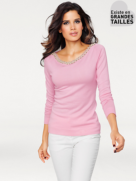 Ashley Brooke - Pull-over en tricot fin