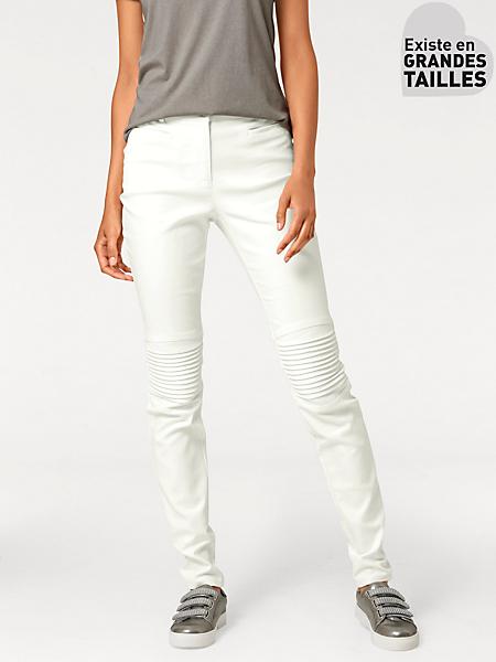 B.C. Best Connections - Pantalon slim aspect peau à genoux renforcés tendance