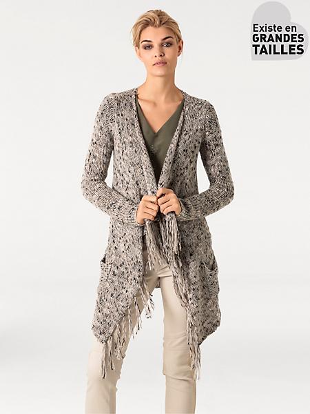 Rick Cardona - Gilet long en tricot