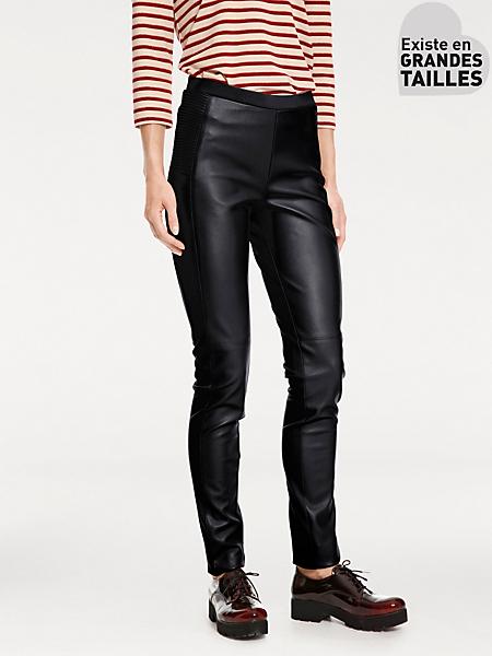 Ashley Brooke - Pantalon leggings femme à taille élastiquée aspect peau