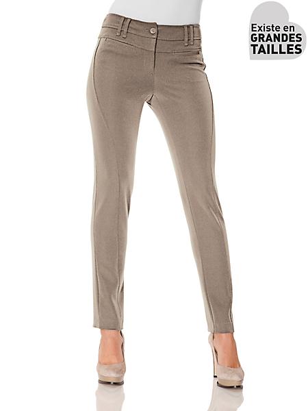 B.C. Best Connections - Pantalon droit amincissant et confort à poches plaquées