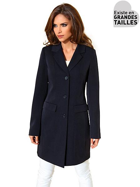 Patrizia Dini - Veste longue blazer coupe chic, col en V