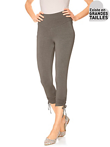 Class International Fx - Leggings 7/8e femme à bas froncés, taille amincissante