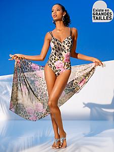 Class International Fx - Maillot 1 pièce imprimé léopard et fleurs