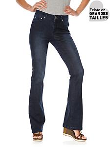 Ashley Brooke - Jean tendance effet push et ventre plat, type bootcut