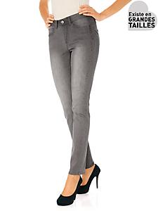 Ashley Brooke - Jean slim coupe amincissante à strass, taille haute