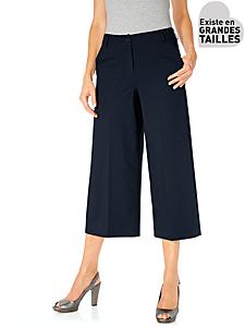 Ashley Brooke - Jupe-culotte unie à plis et à poches, style classique