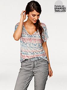 Rick Cardona - T-shirt ample manches courtes à imprimé tendance