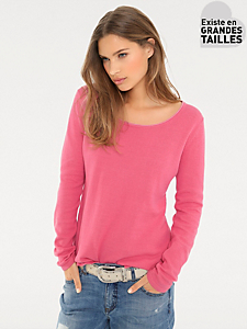 B.C. Best Connections - Pull-over basique en coton femme, col rond original